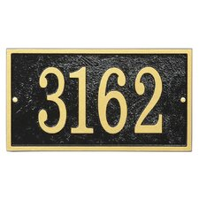 Fast and Easy Rectangle House Numbers Plaque