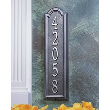 Manchester Vertical 1 Line Standard Wall Address Sign