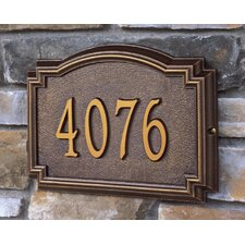 Whitehall Products Williamsburg 1 Line Standard Wall Address Sign