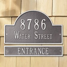 Arch Extension Address Plaque