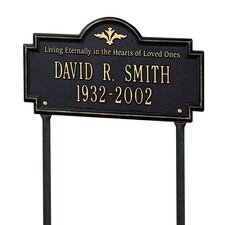Arlington Standard 'Living Eternally' Lawn Memorial Plaque