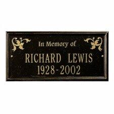 Wilmington Standard 'In Memory of' Memorial Plaque