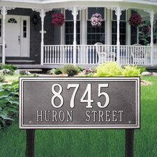 Double Line Estate Address Sign