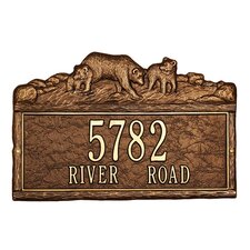 Woodland Bears Standard Address Plaque