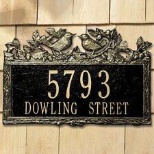 Woodland Wren Standard Address Plaque