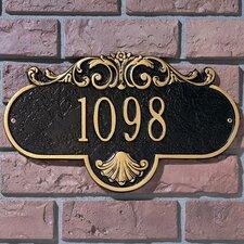 Rochelle Standard Address Plaque