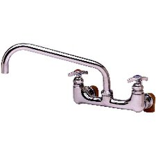 Two Handle Wall Mount Big-Flow Kettle and Pot Faucet