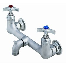 Wall Mounted Bathroom Faucet with Double Cross Handles