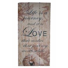 Wooden Wall Art with Love Textual Art