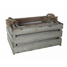 3 Piece Wooden Crate Set with Rope Handles