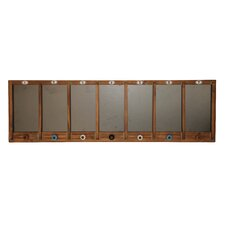 7 Panel Wall Hanging Chalkboard with Knobs