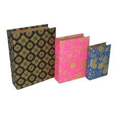 3 Piece Mixed Print Book Box Set