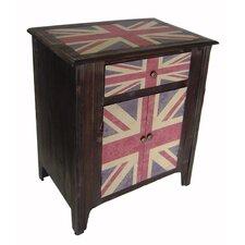 Union Jack 1 Drawer 2 Door Cabinet