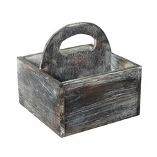 Wooden Square Caddy