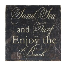 Sand, Sea, Surf Textual Art