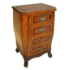 Wooden Chest with 4 Drawers and Cupped Handles