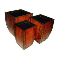 3 Piece Square Pot Planter Set
