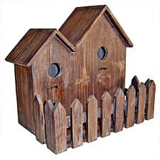 Double Wooden Birdhouse