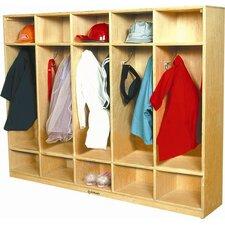 1 Tier 5-Section Coat Locker