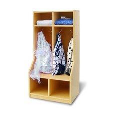 1 Tier 2-Section Toddler Coat Locker