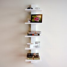 """Spine 37.75"""" Wall Bookcase"""