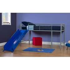 Junior Twin Loft Bed with Built-In Ladder & Slide
