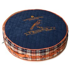 Bark-Royale Posh Rounded and Raised Designer Fleece Plaid Dog Bed