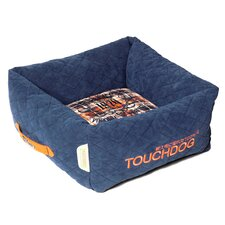 Exquisite-Wuff Posh Rectangular Diamond Stitched Fleece Plaid Dog Bed