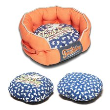 Rabbit-Spotted Premium Rounded Dog Bed