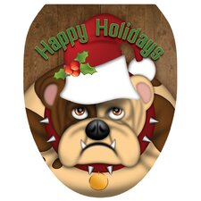 Jolly Bull Dog Toilet Seat Decal