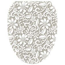 Lovely Lace Toilet Seat Decal