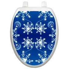 Seasonal Snow Crystals Toilet Seat Decal