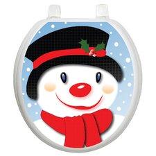 Seasonal Snowman Toilet Seat Decal