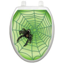 Seasonal Spider Web Toilet Seat Decal