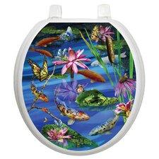 Themes Koi Fish Toilet Seat Decal