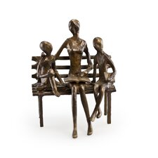 Mother Reading to Children Sculpture