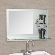 Samara Frameless Bathroom Mirror with Shelves