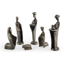6 Piece Iron Nativity Sculpture Set