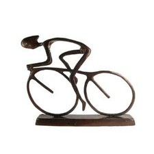 Large Cyclist Figurine