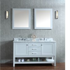 "Bayhill 60"" Double Bathroom Vanity Set with Mirror"