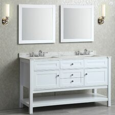"Mayfield 60"" Double Bathroom Vanity Set with Mirror"