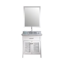 "Kensington 31"" Single Bathroom Vanity Set with Mirror"