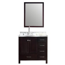 "Cambridge 37"" Single Bathroom Vanity Set with Mirror"