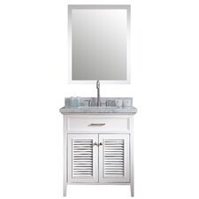"Kensington 31"" Single Bathroom Vanity Set with Mirror"