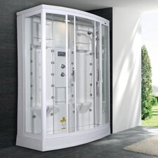 "Sliding Door 85"" x 56"" x 38"" Steam Shower with Right Side Configuration"