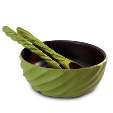 Spiral 3 Piece Salad Bowl & Server Set