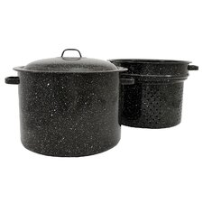 11.5-qt. Steamer Pot with Drainer Insert