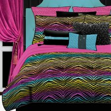 Rainbow Zebra Bedding Collection