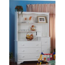 Nantucket 3 Drawer Combo and Hutch Set