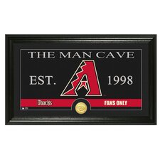 MLB Man Cave Bronze Coin Panoramic Photo Mint Framed Wall Art